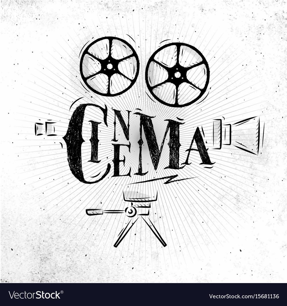Poster movie camera vector image