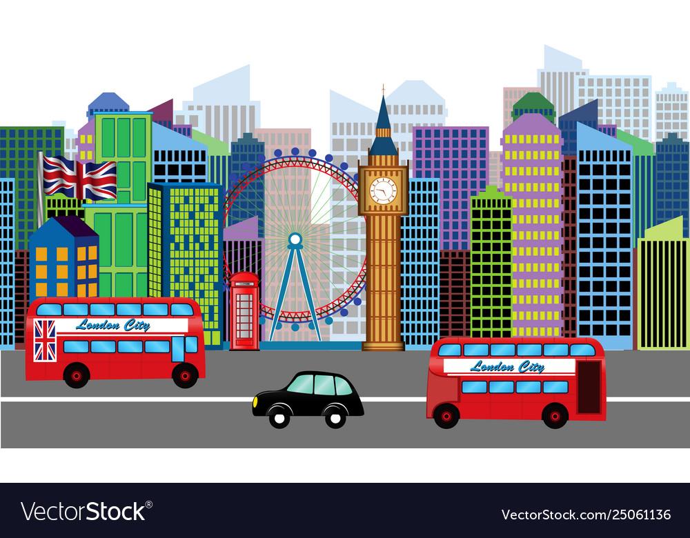 Set skyline or cityscape london