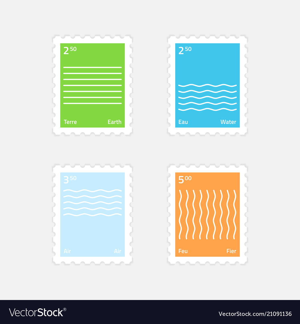 Stamps four elements