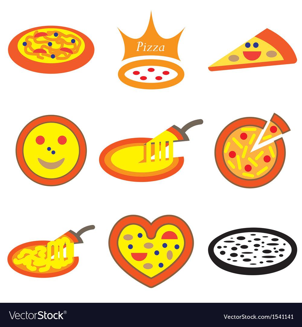 Logo icons pizza