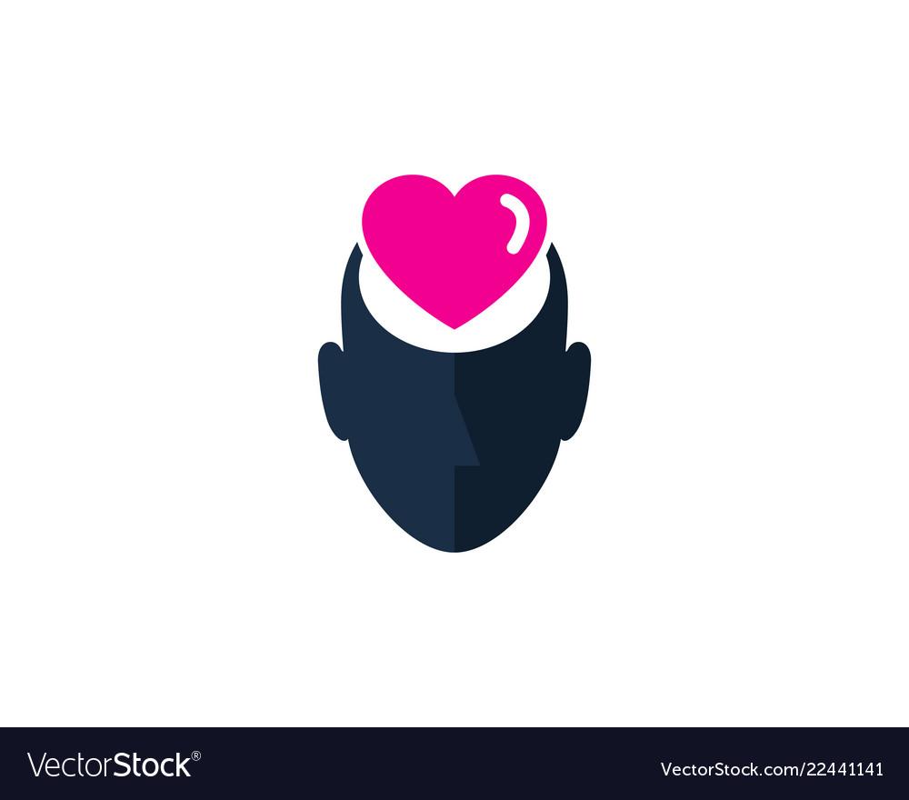 Love human head logo icon design