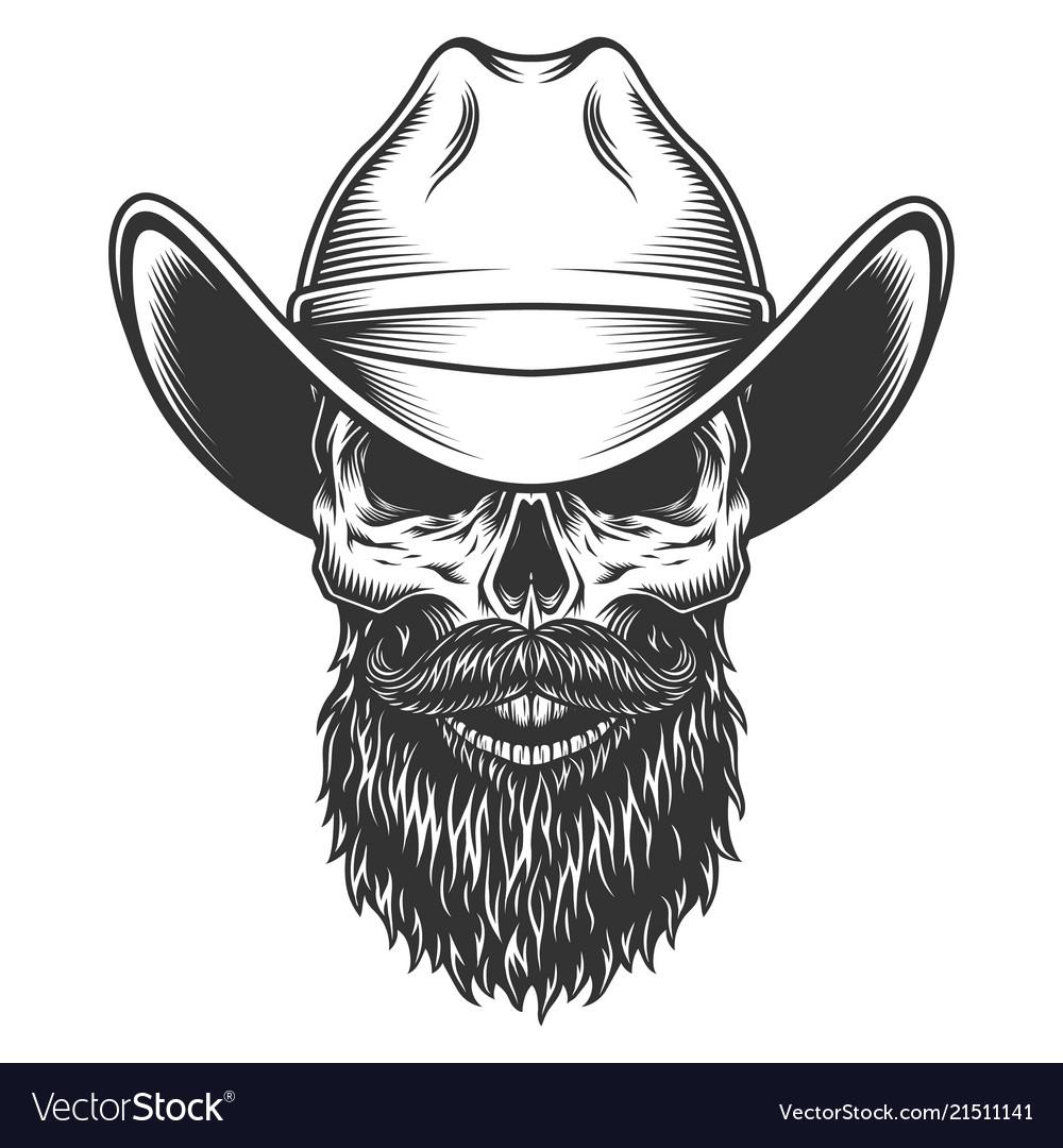 Skull In Cowboy Hat Royalty Free Vector Image Vectorstock Upload only your own content. vectorstock