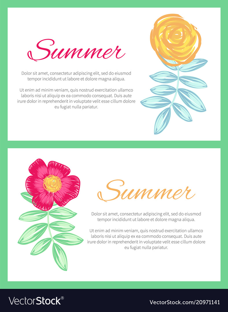 Summer set of two posters