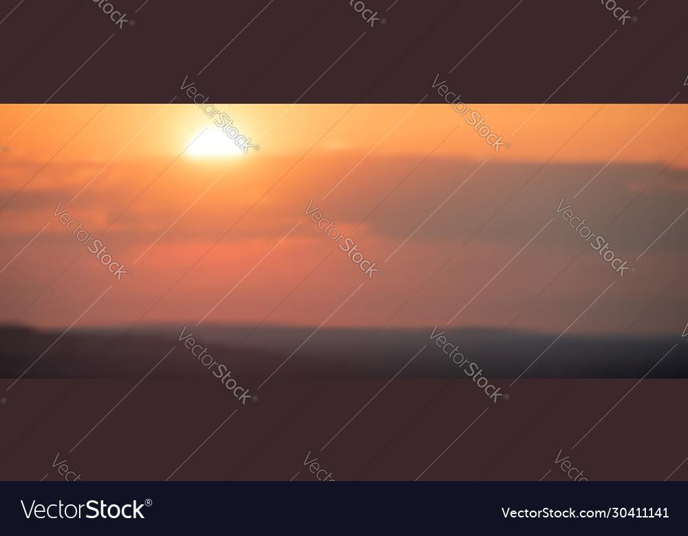 Summer sunset monochrome background in orange