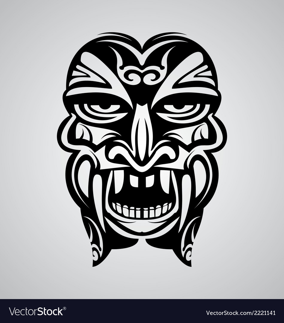 Tribal Ancient Mask vector image