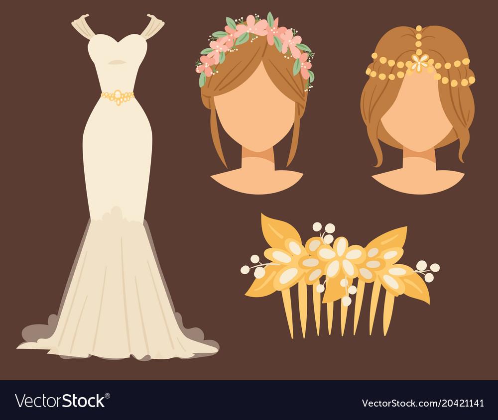 Wedding bride dress accessory celebration