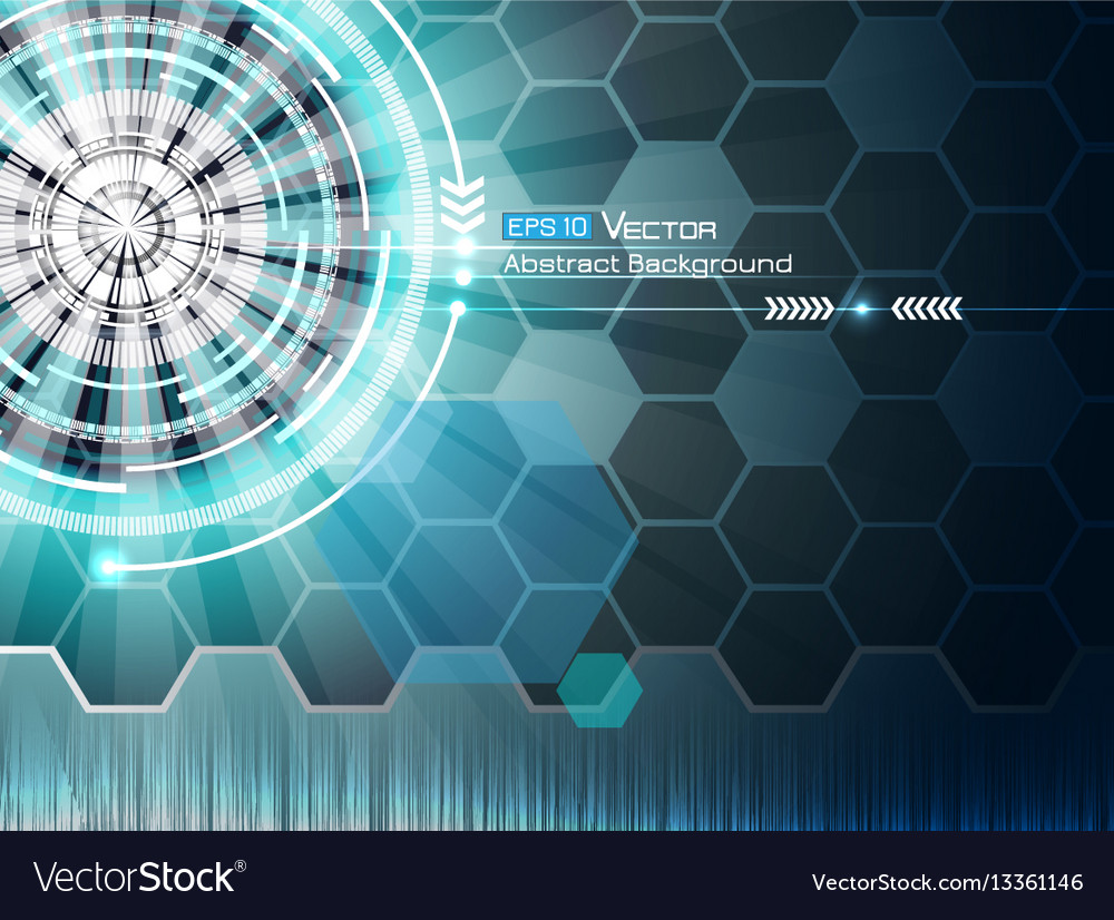 Background with futuristic elements 3 vector image