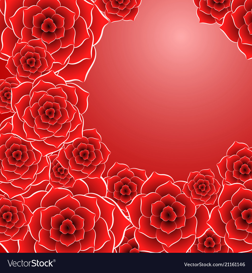 Beautiful Red Rose Flower Background Royalty Free Vector