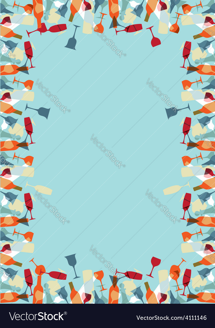 Colorful cocktaill design menu background vector image