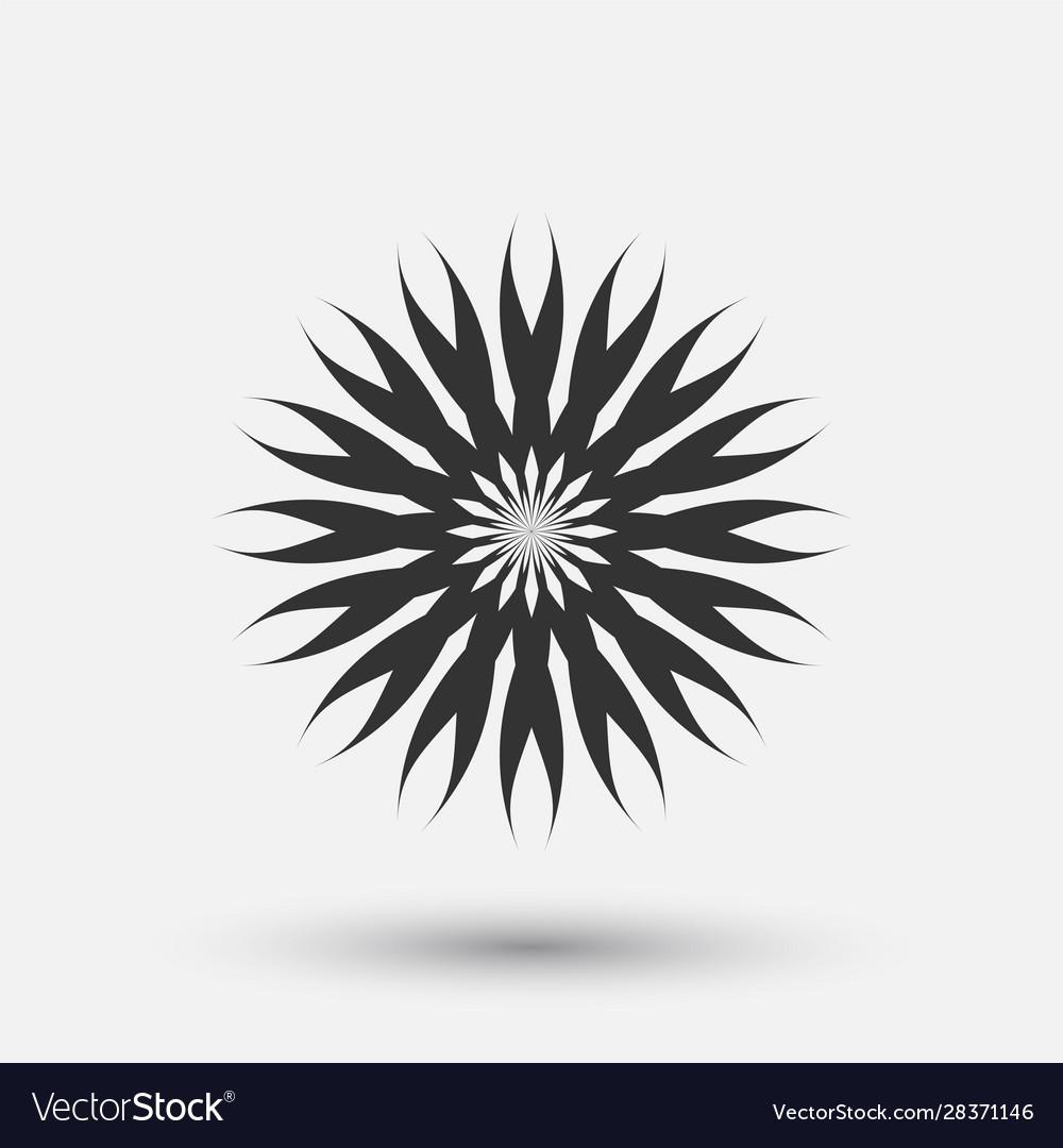 Creative icon - floral decorative element