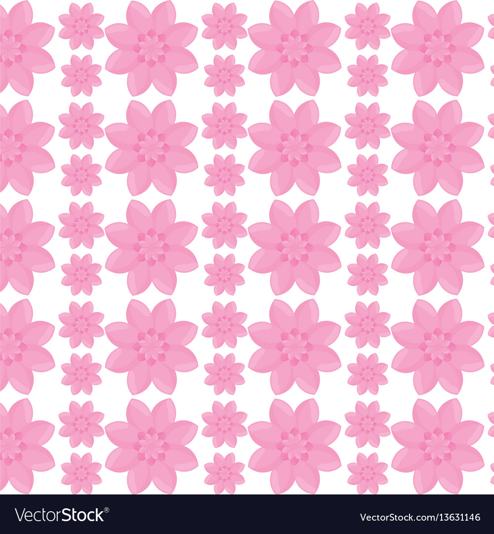 Flower garden seamless pattern design