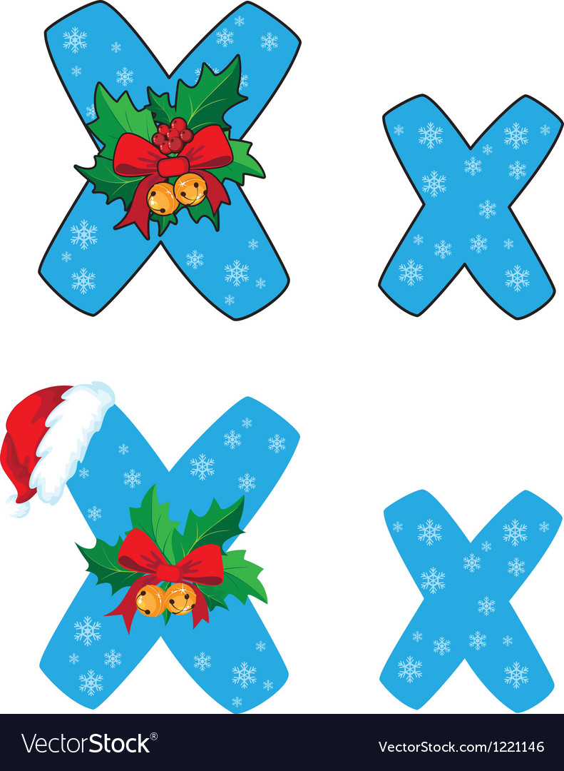 Letter X Xmas vector image