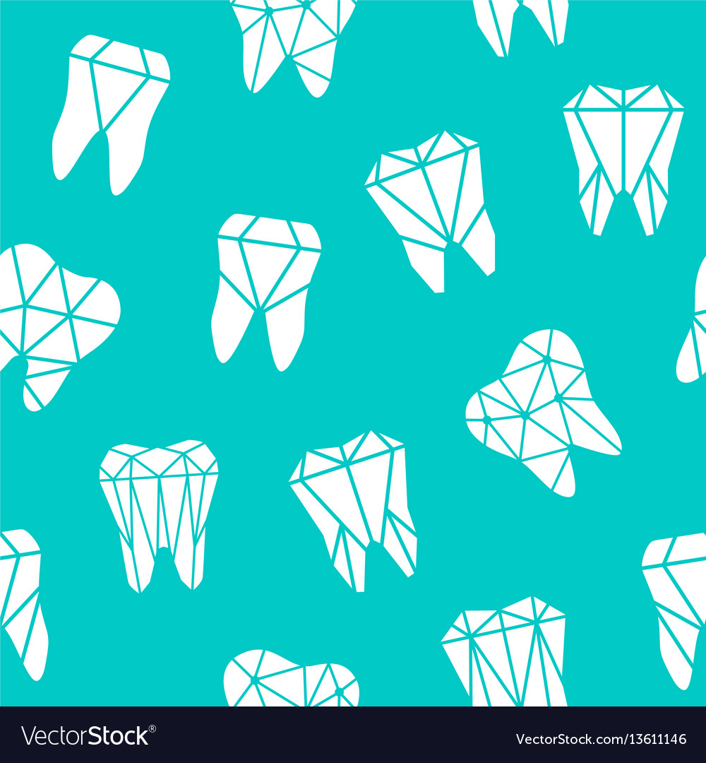 Seamless background with symbols teeth