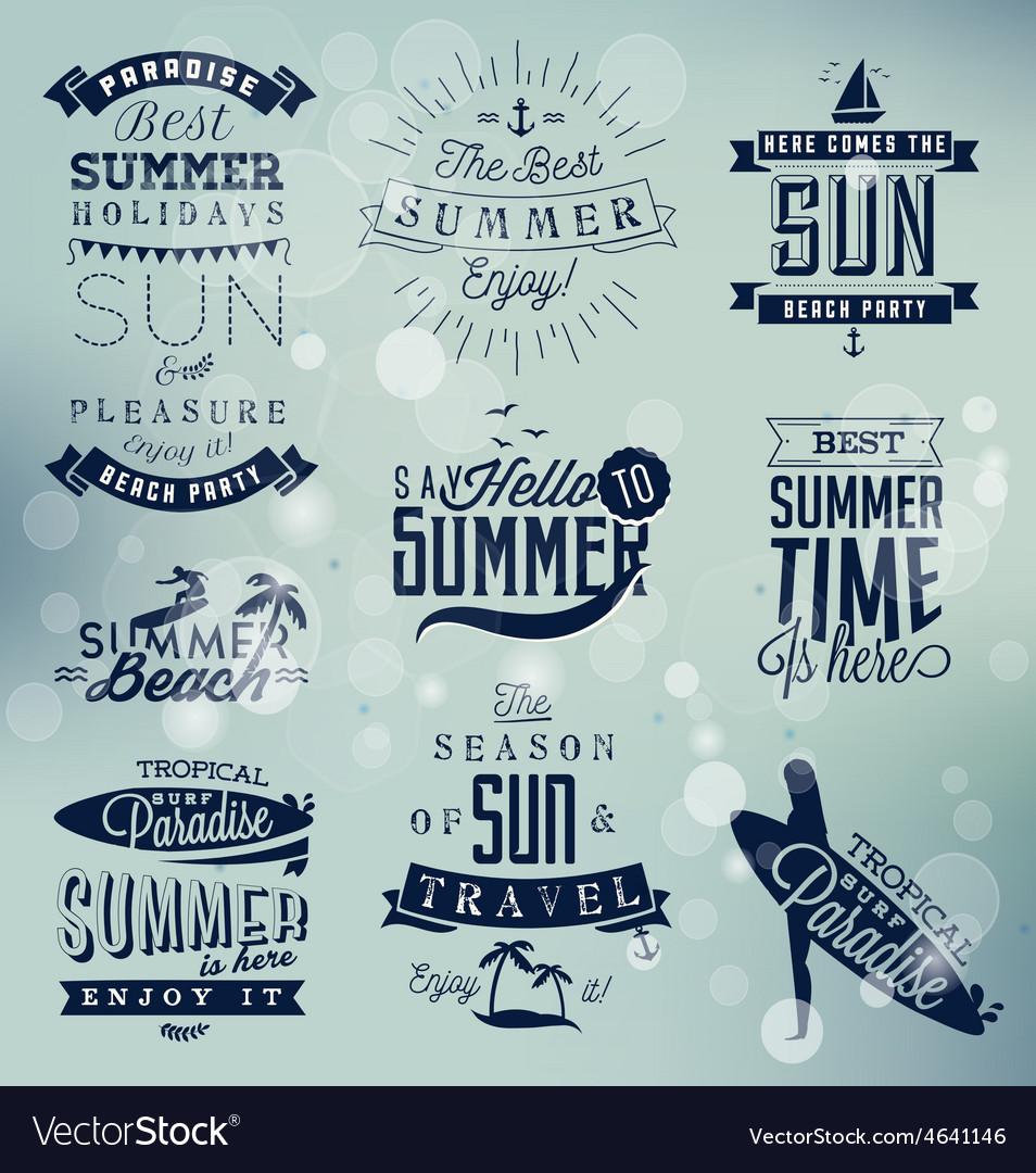 Summer Beach Calligraphy Design Elements