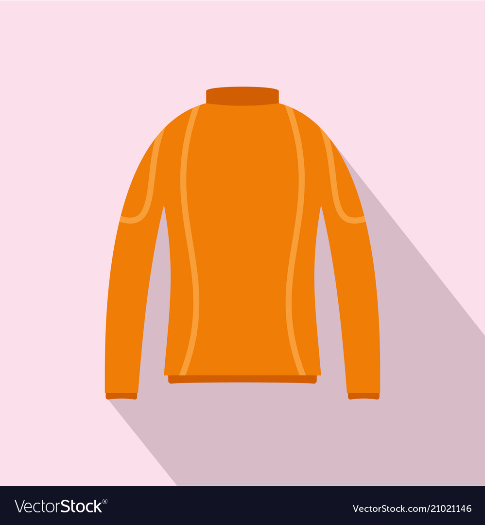 Thermo clothes icon flat style