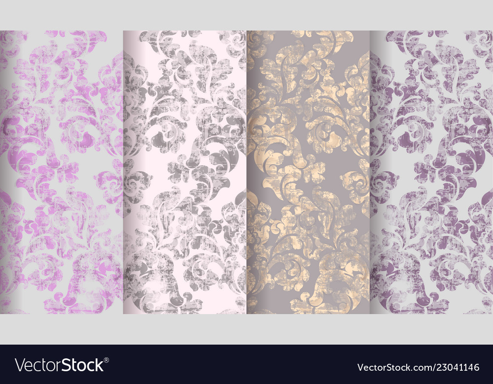 Vintage baroque victorian pattern set