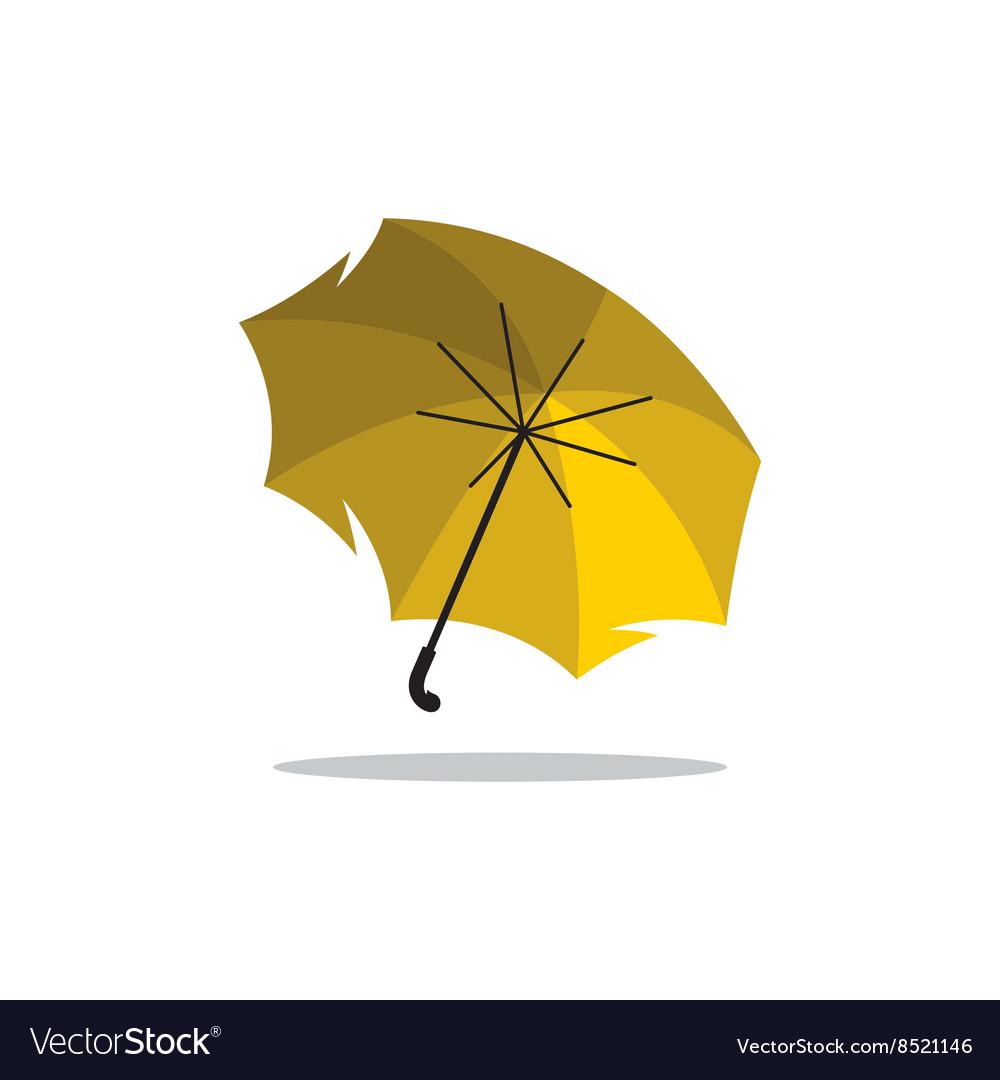 70b7cb2c0 Yellow Umbrella Cartoon Royalty Free Vector Image