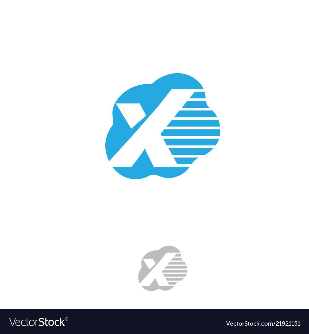 Cloud letter x