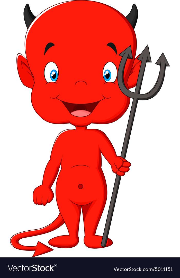 red devil cartoon royalty free vector image vectorstock rh vectorstock com cartoon vector art cartoon vector kit