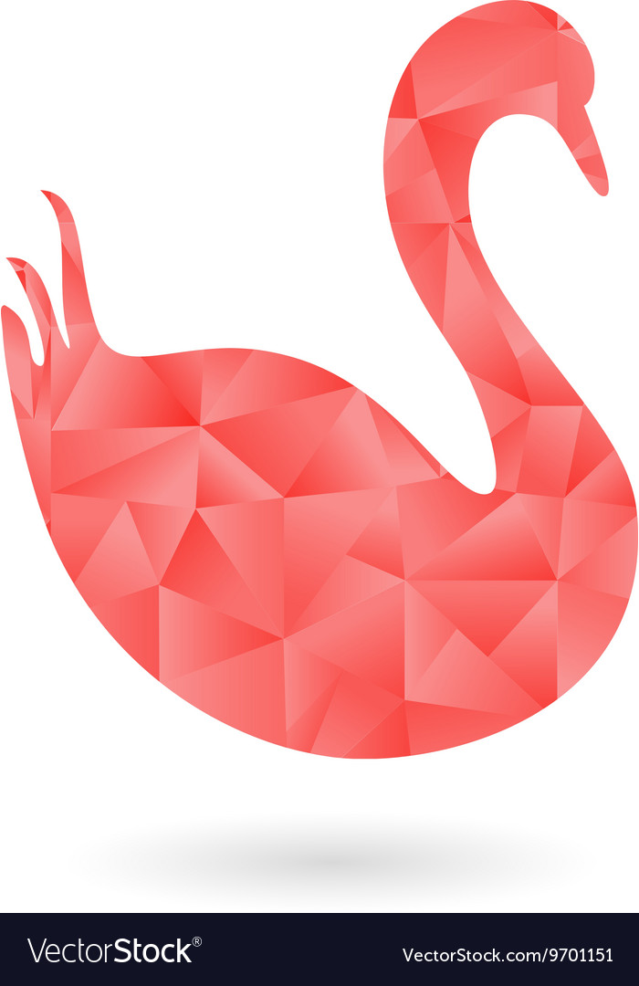 The Swan Filled with Polygonal Pattern