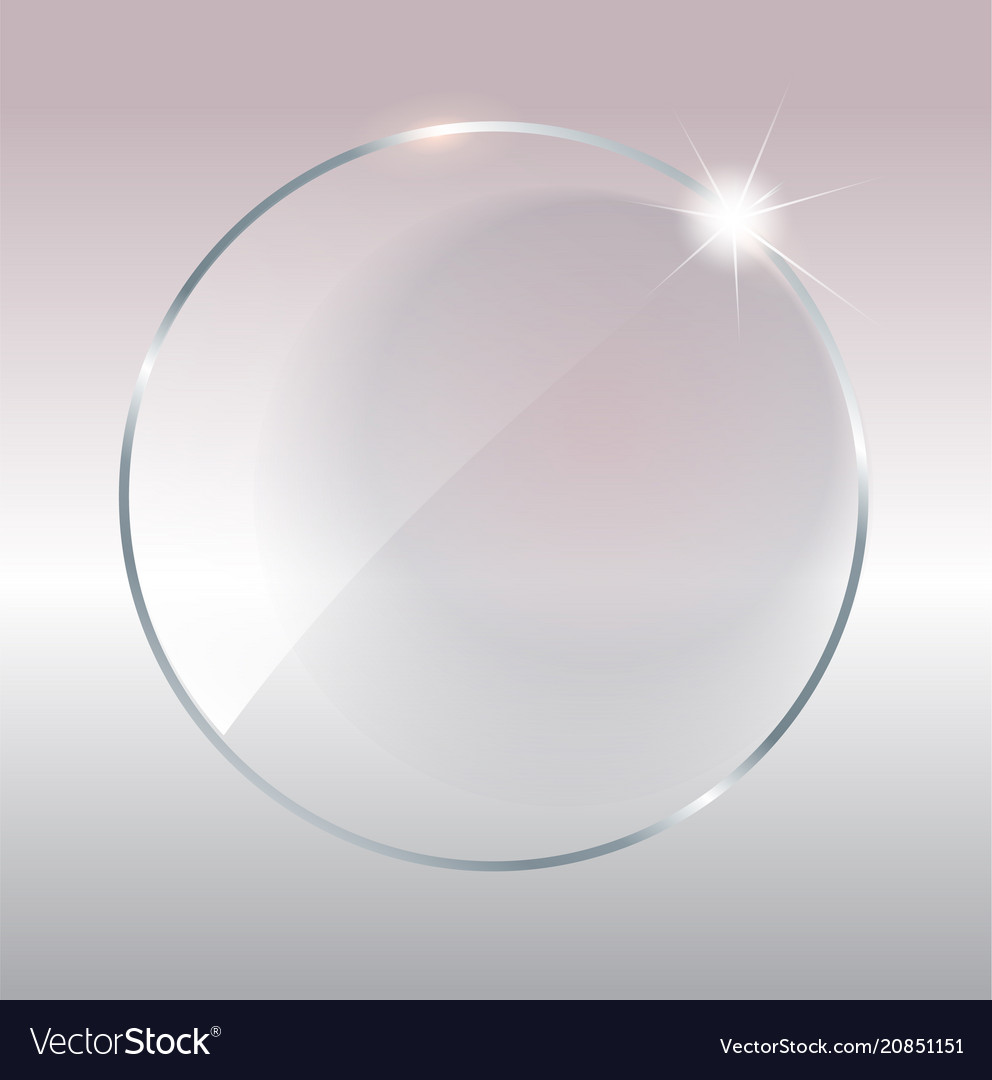 Transparent round circle see through element on
