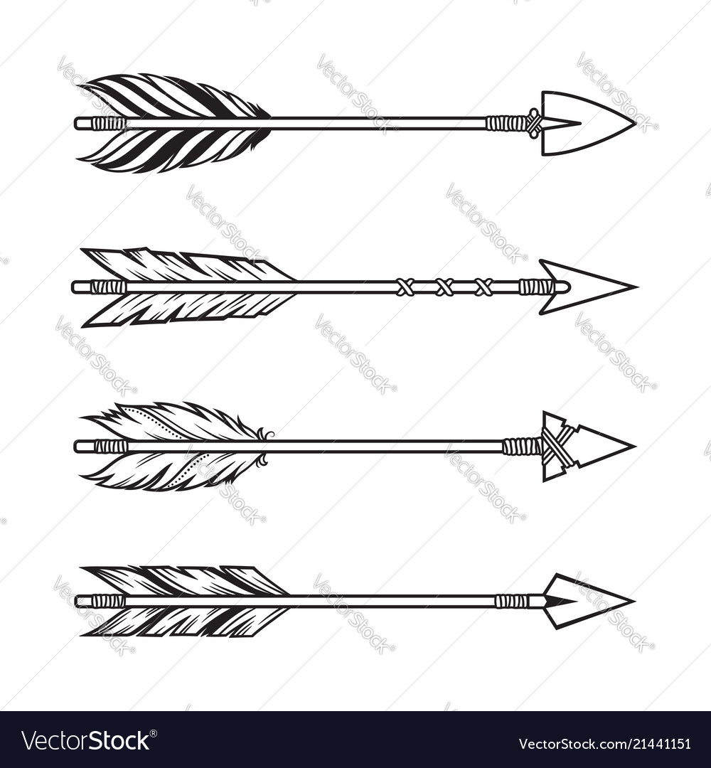 Tribal arrows set