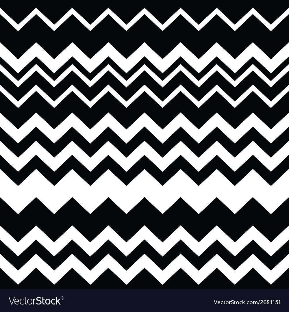Tribal Aztec zigzag black and white pattern