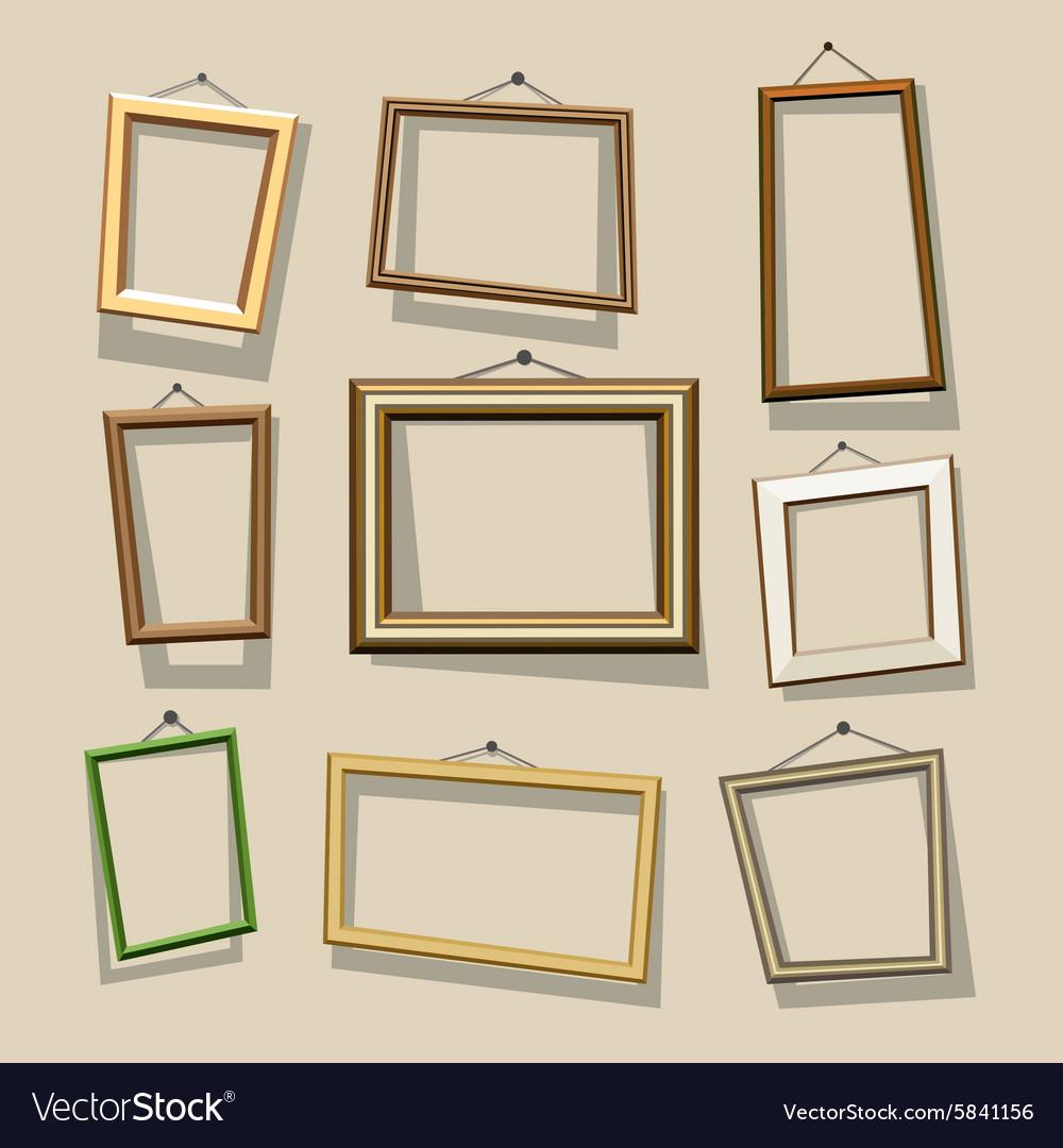 Cartoon frames set Royalty Free Vector Image - VectorStock