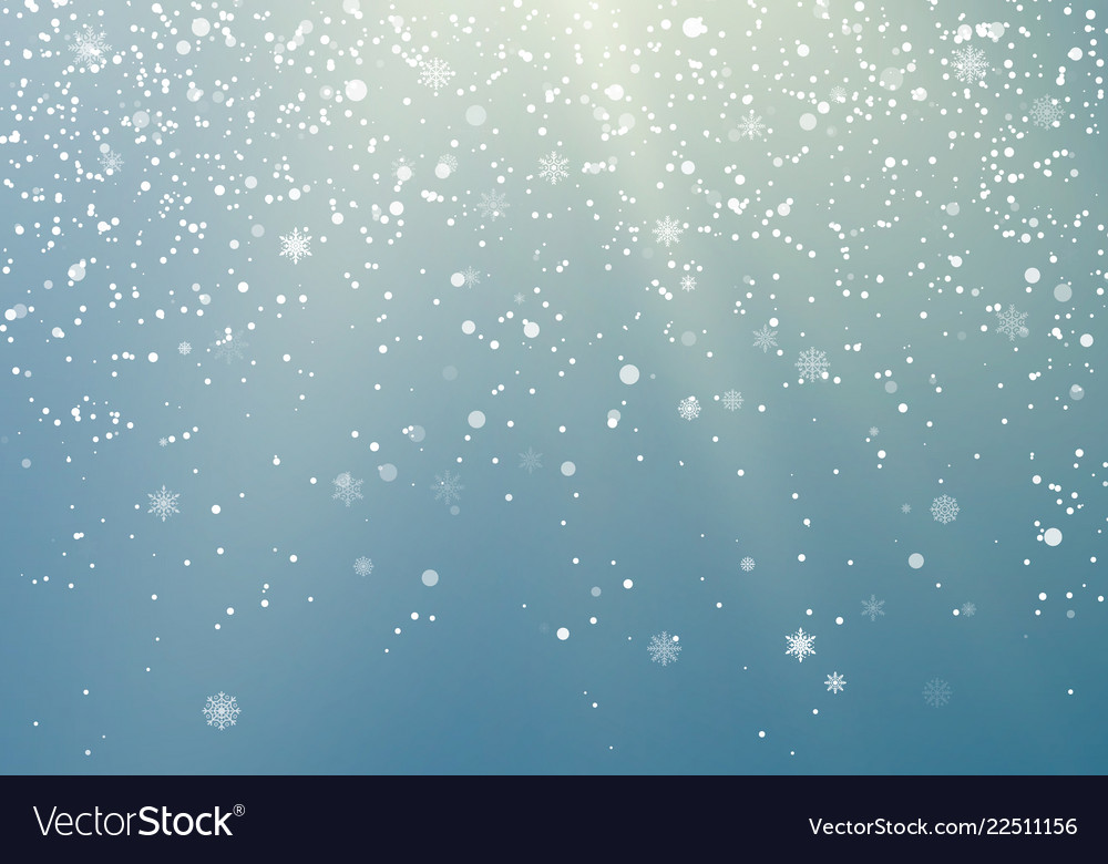 Falling snowflakes transparent background winter