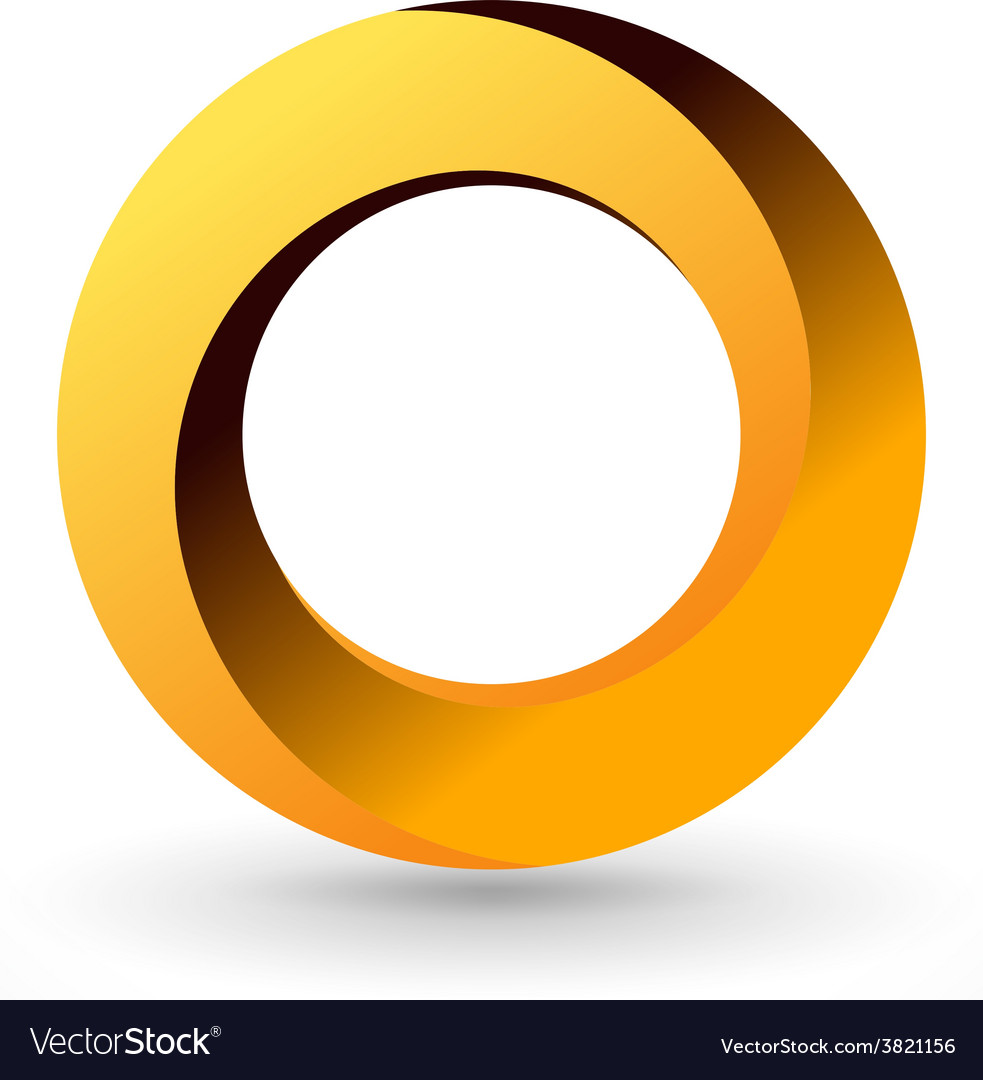 Impossible circle vector image