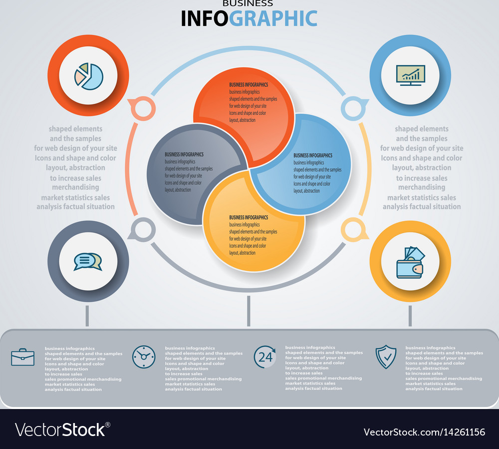 Infographics web design marketing icons for