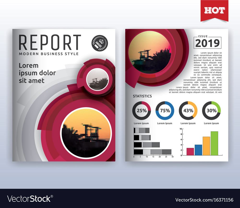 Modern corporate business flyer layout design vector image