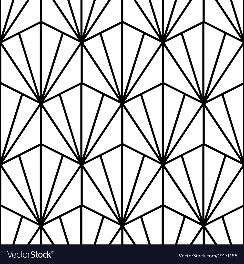 Art Deco Patterns: Pattern In Art Deco Style Royalty Free Vector Image