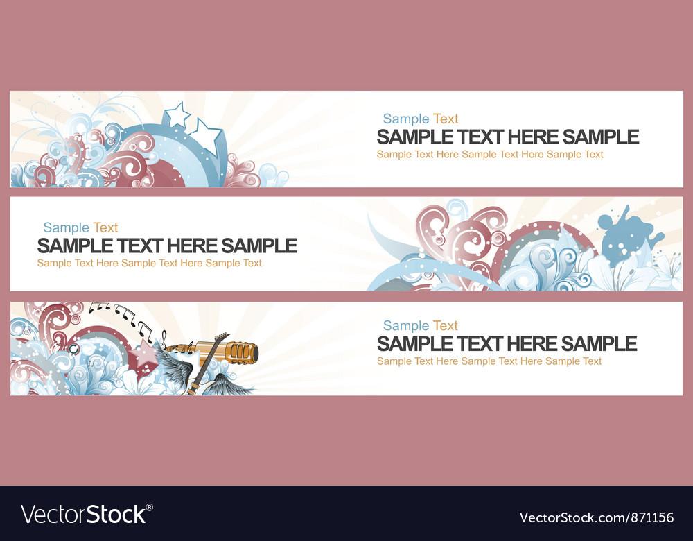 Retro web banners