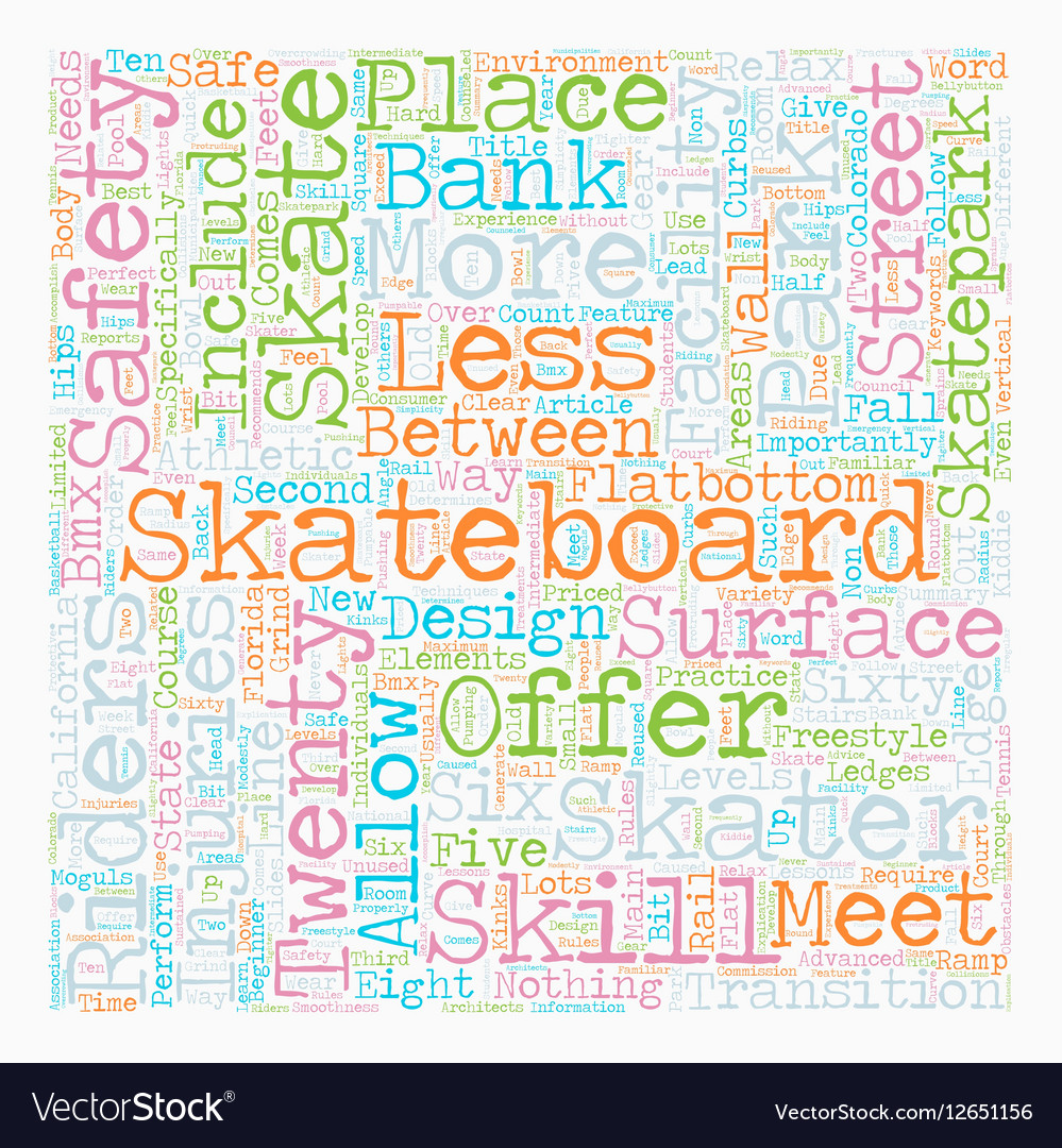 Skateboards Skills And Riders text background