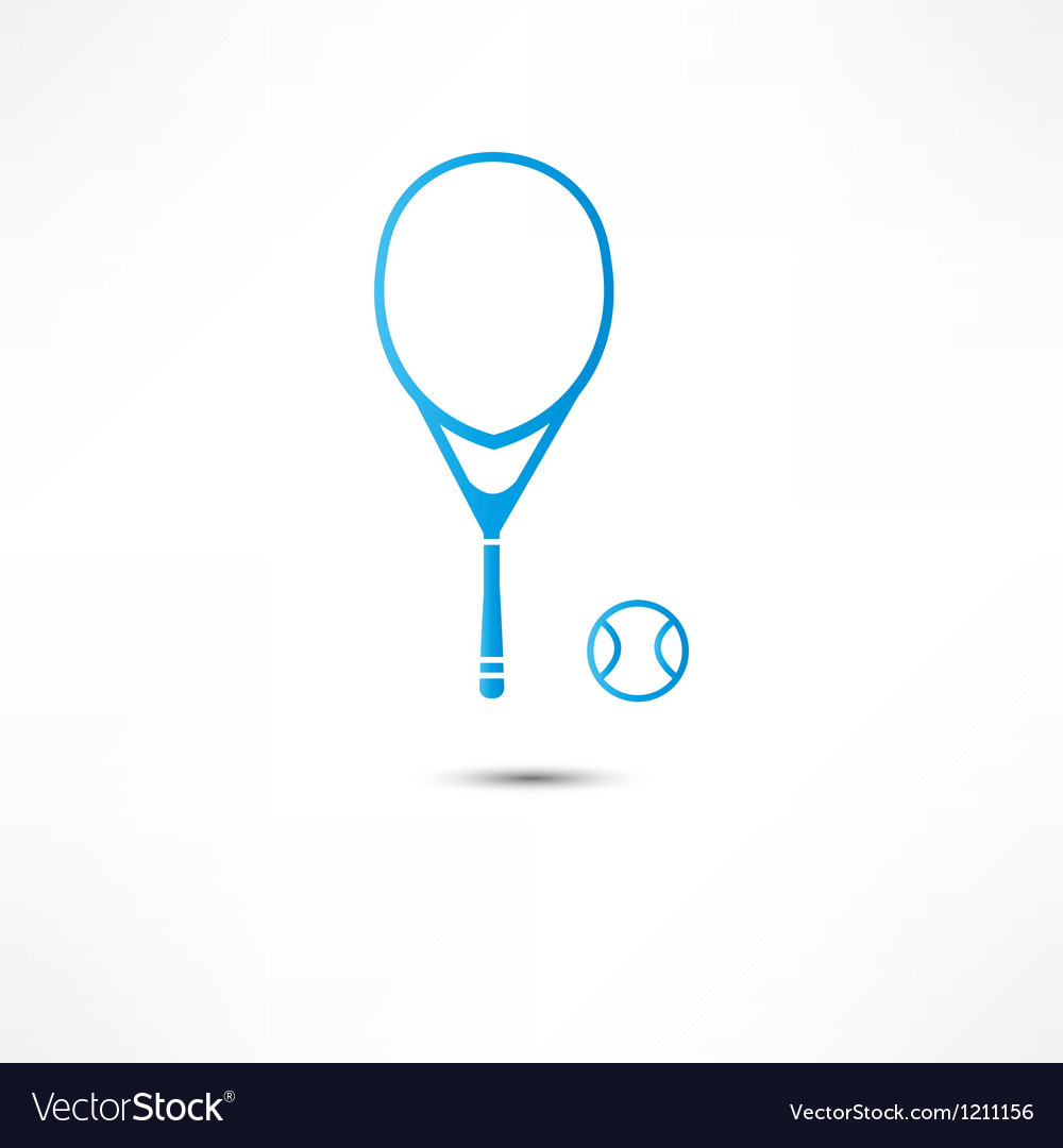 Tennis racket and ball icon vector image
