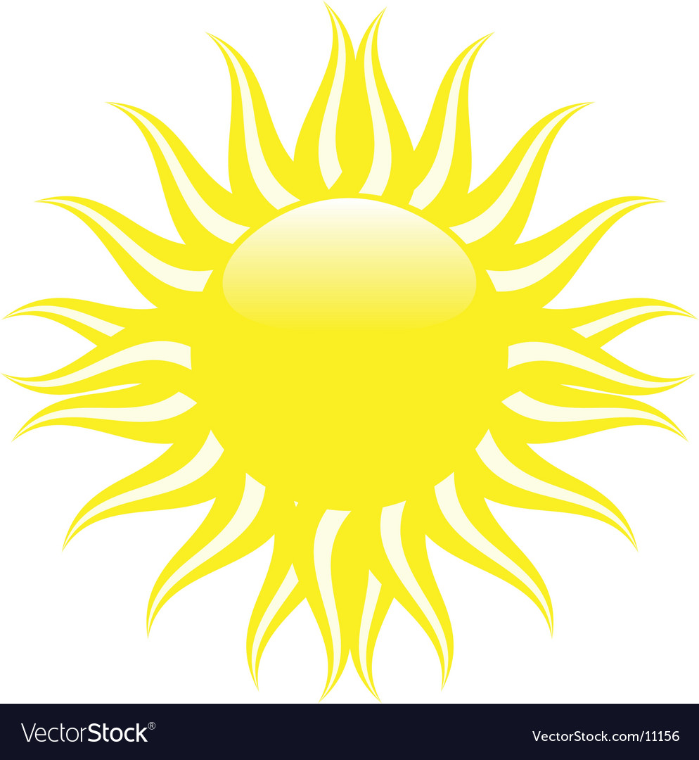 Yellow summer sun vector image