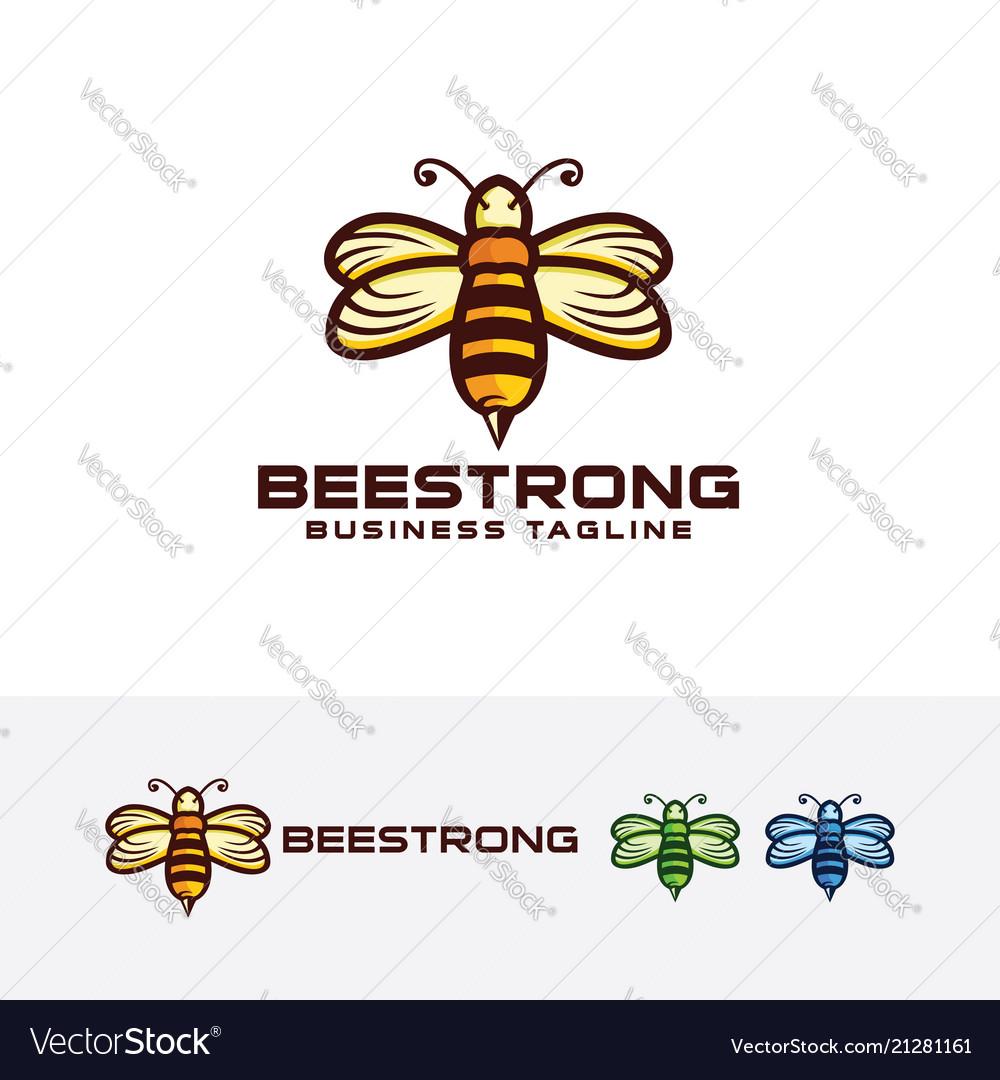 Bee strong logo design