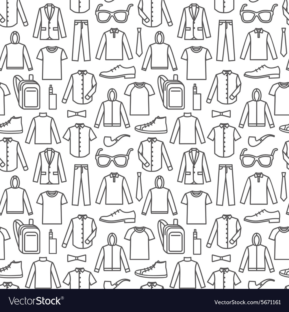 Endless Clothes Background Royalty Free Vector Image