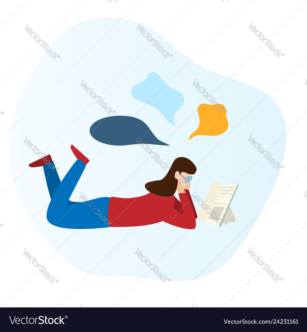 book and laying on the floor Vector Image
