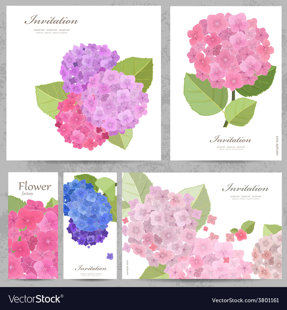 Greeting cards with collection of beautiful