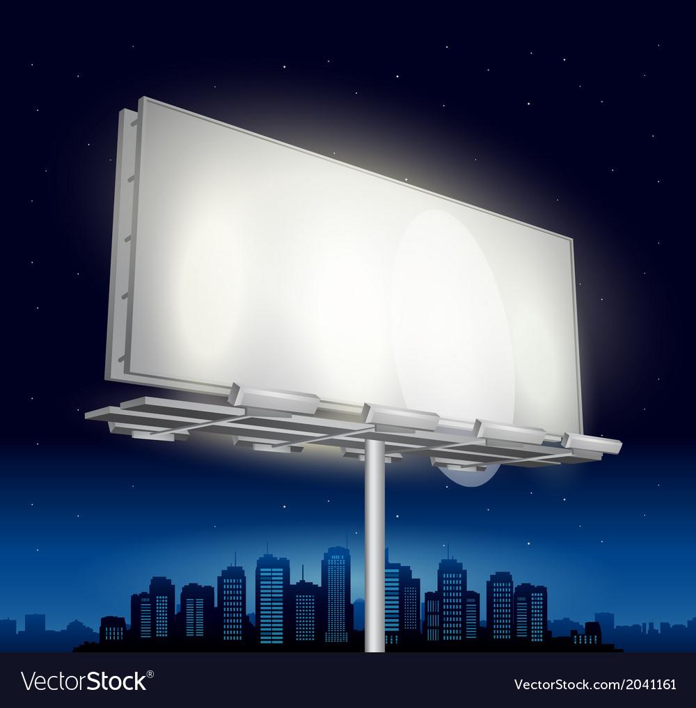 Highway ad billboard roadside at night