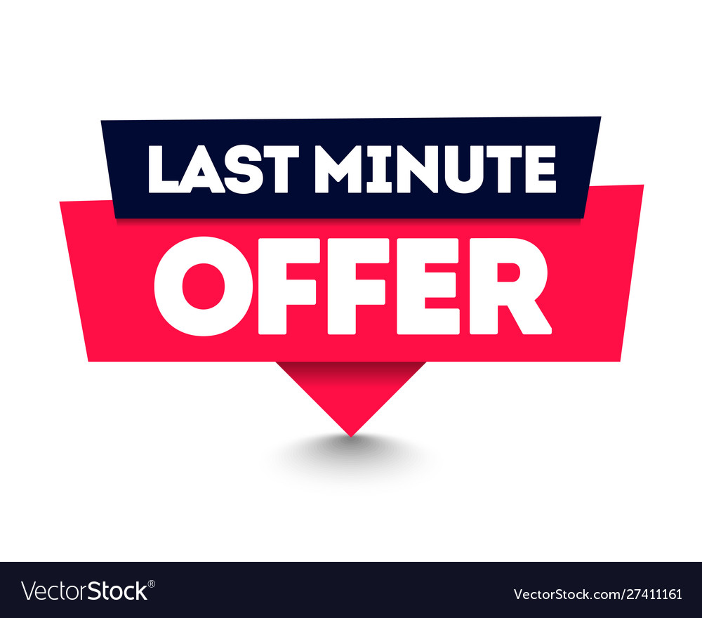 Last minute offer commercial pin web label element