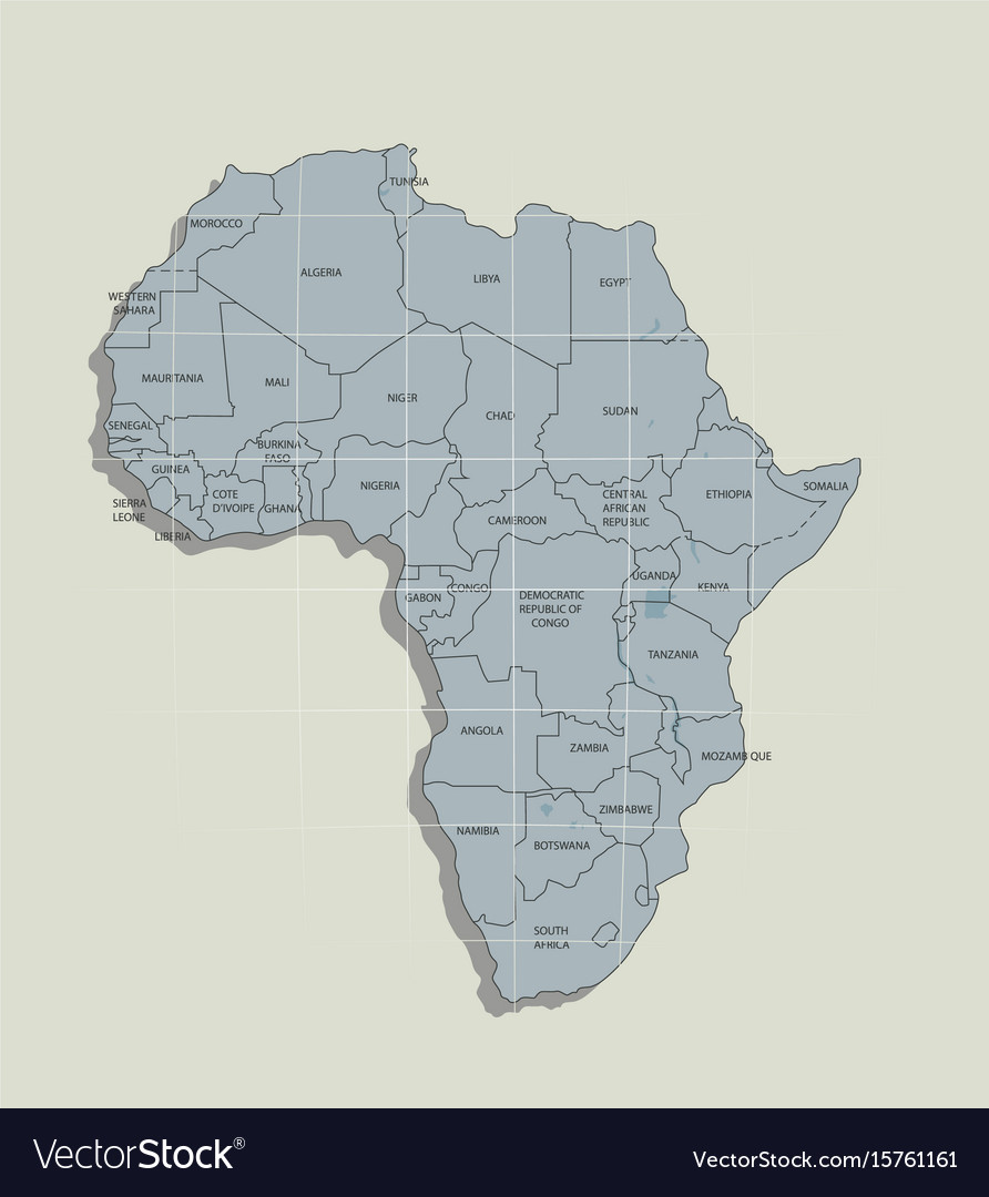 Original map of the african continent Royalty Free Vector