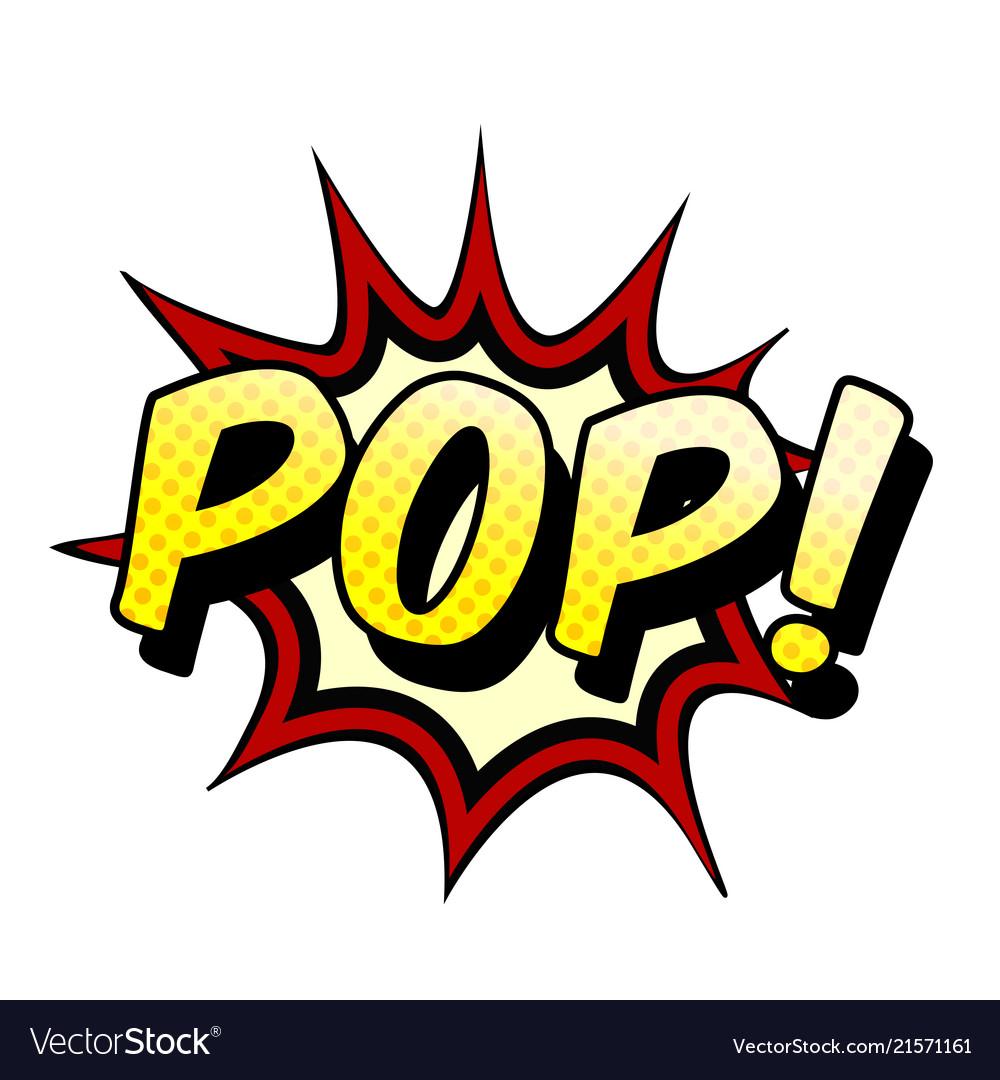 Pop art pop speech white background image