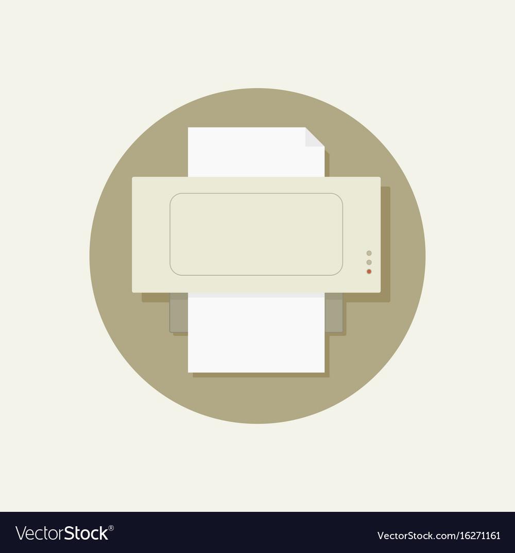 Print flat icon vector image