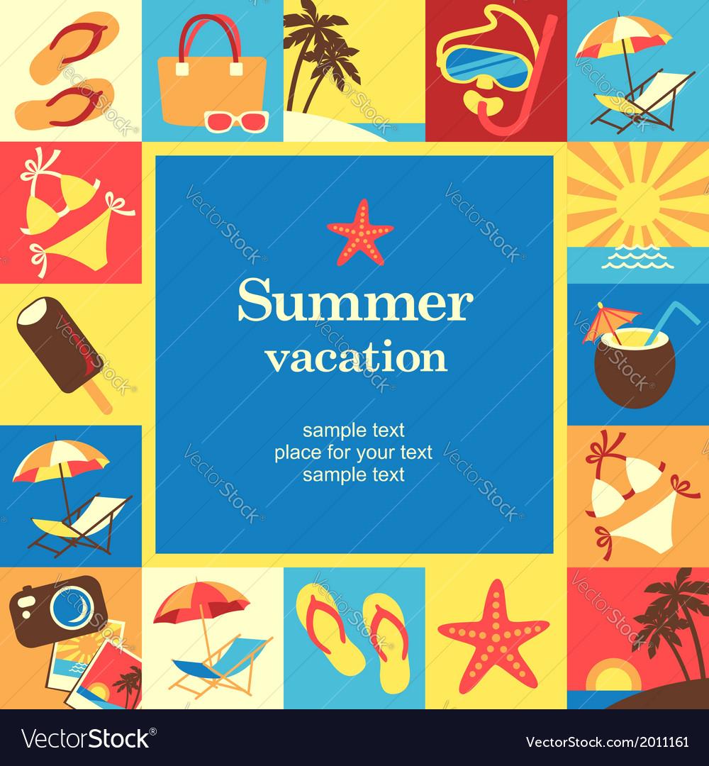 Summer vacation frame