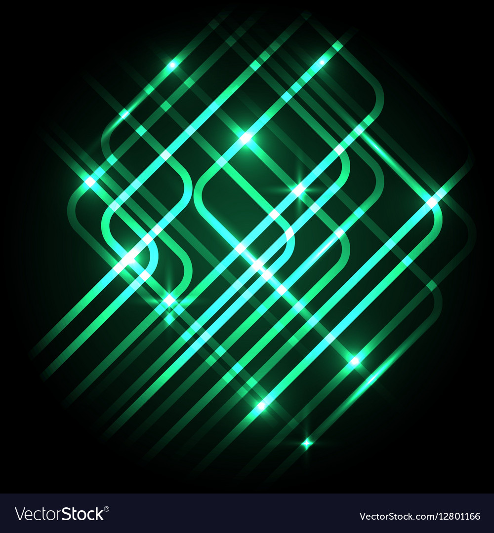 Abstract Neon Green Background With Lines