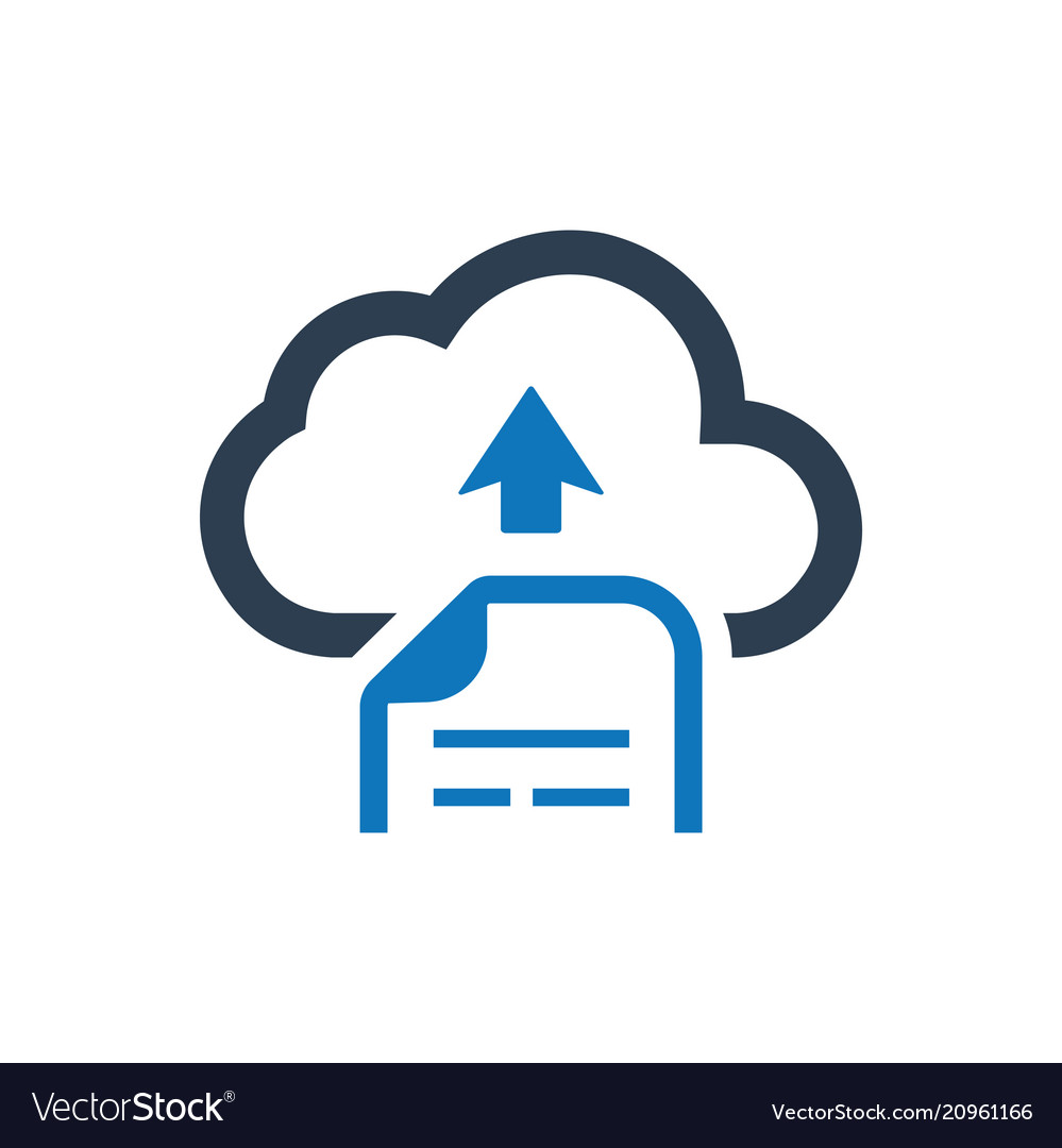 cloud file upload icon royalty free vector image