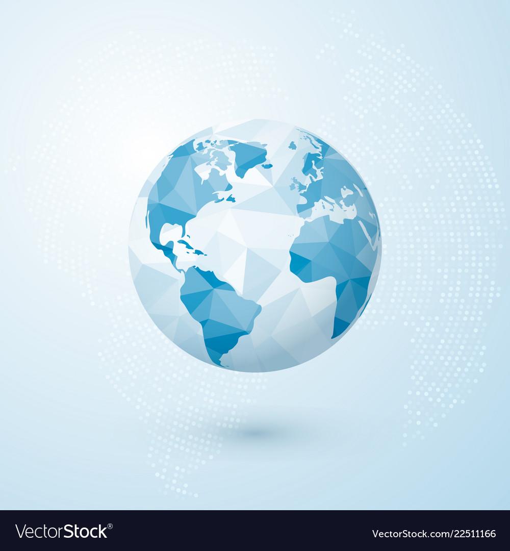 Polygonal globe world globe map creative earth